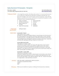 Production Assistant Resume Template Sample Resume For Retail Sales Assistant Sales Assistant Cv
