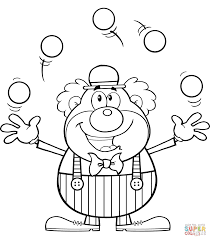 clown juggling balls coloring page free printable coloring pages