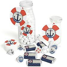 Nautical Baby Shower Decorations Ahoy Nautical Baby Shower Theme Bigdotofhappiness Com