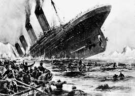 coloring pages of the titanic titanic struck many leaped into the sea 1912 click americana