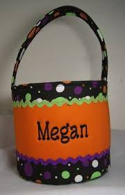 personalized halloween trick or treat basket by sewcuteinstitches