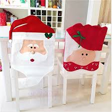 christmas chair back covers eiala creative santa chair back seat covers dinner decor