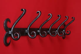 quality wrought iron coat hooks single triple or six