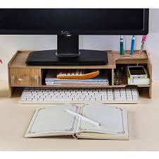 computer desk monitor lift wood computer monitor riser stand monitor stand monitor lift desktop