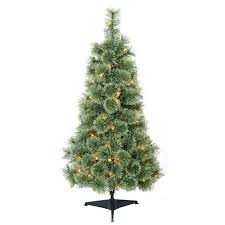 time pre lit 4 artificial tree clear