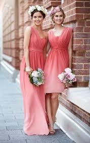 peach bridesmaid dress by sorella vita chiffon gown maids and