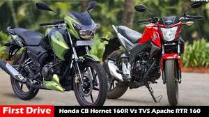honda cbr 180cc bike price honda cb hornet 160r vs tvs apache rtr 160 comparison u0026 review
