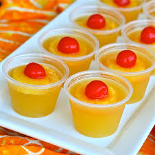 u is for upside down cake jello shots