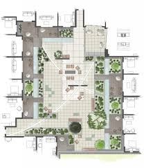 How To Draw Floor Plan In Autocad by Intensive Residential Green Roof Rendered Roof Garden Plan