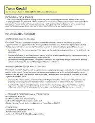 charge resume early childhood development resume skills professional preschool