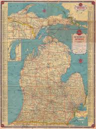 Michigan Road Map by 1935 Map Of Michican The Bizjam