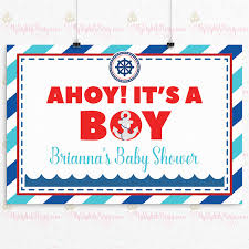baby shower posters ahoy it s a boy baby shower backdrop or poster boy baby shower