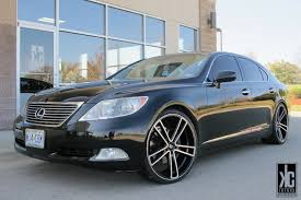 lexus ls430 wheel offset kc trends koko kuture massa 5 black machined staggered wheels