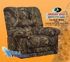cloud nine mossy oak camouflage chaise rocker recliner by