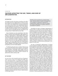 chapter two factors affecting the use timing and ease of
