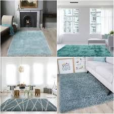 Modern Shaggy Rugs Soft Modern Fluffy Duck Egg Blue Shaggy Rugs Warm Non Shed Thick