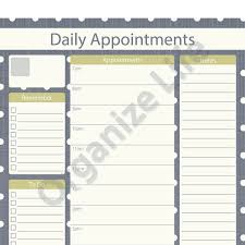 7 best images of daily appointment calendar printable printable