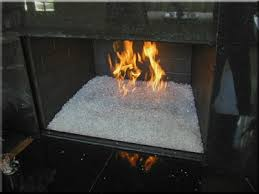 Starfire Fire Pits - fireplace media shattered glass for the fireplace pure white