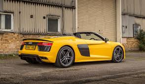 Audi R8 Yellow - audi r8 spyder v10 plus review not the best supercar but the one