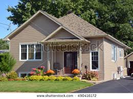 Type Of House Bungalow House by Vinyl Siding Stock Images Royalty Free Images U0026 Vectors