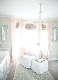 Nursery Pink Curtains Pink Curtains For Baby Room Light Airy Traditional Home Nursery