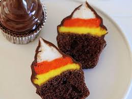 how to make candy corn hi hat cupcakes for halloween fn dish