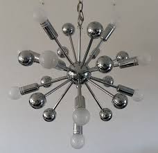 Sputnik Ceiling Light Designer Unknown Beautiful Chrome Coloured Sputnik Ceiling