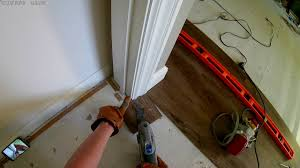 Laminate Flooring Doorway How To Undercut Door Frames To Install Laminate Flooring In A