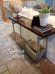 Diy Sofa Table Easy Diy Sofa Table With Pipe Frame Sofa Tables Pipes And Consoles