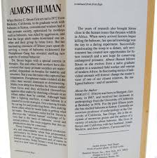 almost human a journey into the world of baboons by strum