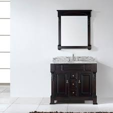 Single Bathroom Vanity by Virtu Usa Huntshire 40 Single Bathroom Vanity Set In Dark Walnut