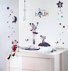 sticker mural chambre bébé stickers muraux bébé déco mister bouh chambre bebe déco sauthon