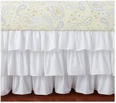 White Ruffle Crib Bedding Shading Exle Decorative Painting Techniques Pinterest