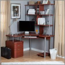 Corner Desk With Shelves by Fraser Corner Desk With Storage Oak Effect Desk Home Design