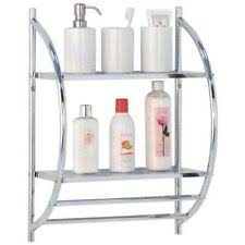 Bathroom Shelf Unit Chrome Bathroom Shelf Home Furniture U0026 Diy Ebay