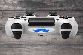ps4 controller white light moustache playstation 4 ps4 dual shock controller light bar decal