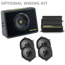 fender mustang 1 speaker upgrade 1994 2004 mustang kicker speaker upgrade kit amp sub k ks68m 2