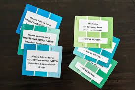 Cards For Housewarming Invitation How To Make An Invitation Using Paint Chips 10 Tips For Easy