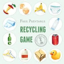 printable recycling game adventure in a box