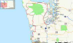 Washington Map With Cities by U S Route 101 In Washington Wikipedia
