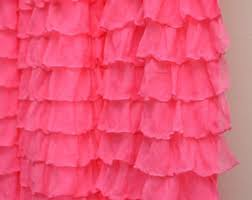Turquoise Ruffle Curtains Pink Curtains Etsy