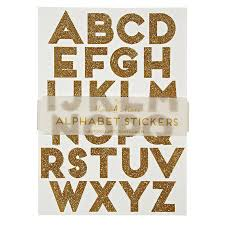 alphabet wall stickers gold glitter alphabet stickers wedding stationery
