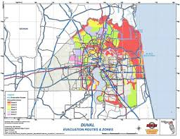 map zones duval county evacuation zones map shelters for hurricane irma