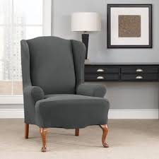 wingback chair slipcovers buy stretch wing chair slipcover from bed bath beyond