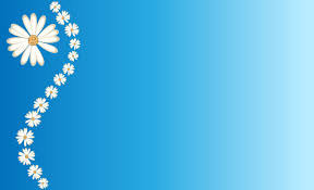 Daisies On Blue Backgrounds Presnetation Ppt Backgrounds Templates Blue Ppt