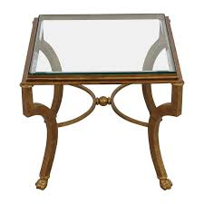 vintage gold side table 69 off square antique gold side table with glass top tables