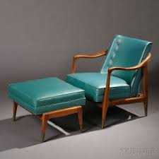 Teal Lounge Chair Search All Lots Skinner Auctioneers