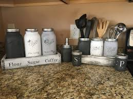 mason jar utensil holder mason jar canister set complete