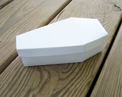 coffin printable halloween favor box blank template diy