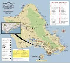 Green Bay Map Oahu Moped Map Hawaii Moped U0026 Scooter Rental Tour Map